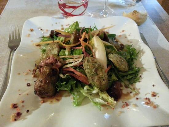 , Entrée : L'Amaranthe  - Salade de boudin gris assaisonement thaï -