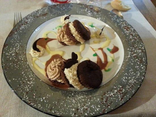 , Dessert : L'Amaranthe  - Moelleux chocolat crème montée au cognac -