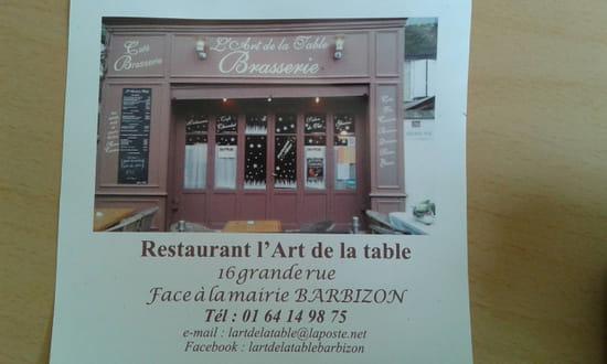 , Restaurant : L'Art de la Table