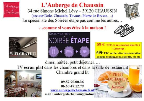L'Auberge de Chaussin  - auberge de chaussin soiree etape -
