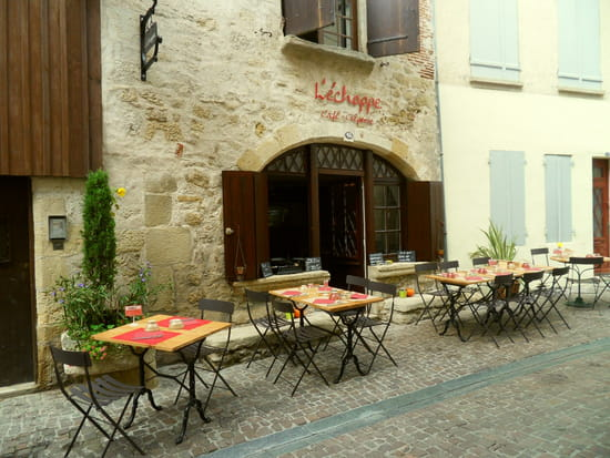 L'Echoppe  - L'Échoppe et sa terrasse d'été -