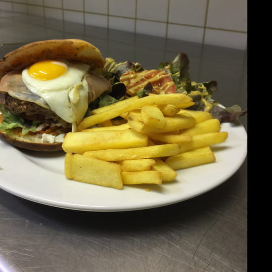 , Plat : L'Entre 2  - Le burger maison         L ENTRE 2 -