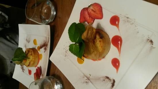 , Dessert : L'entre potes  - Moelleux coco coeur fondant au bounty  -