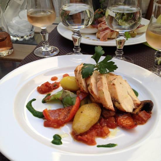, Plat : L'Entre Temps Restaurant  - Rouelles de poulet -