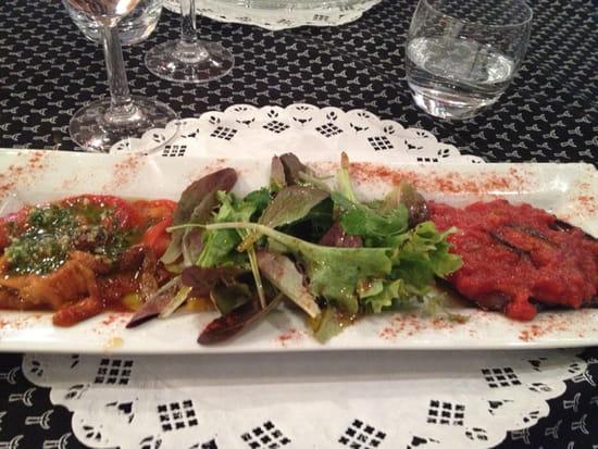 , Entrée : La Camargue  - Duo poivrons aubergine  -