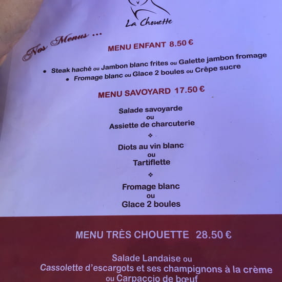 , Restaurant : La chouette