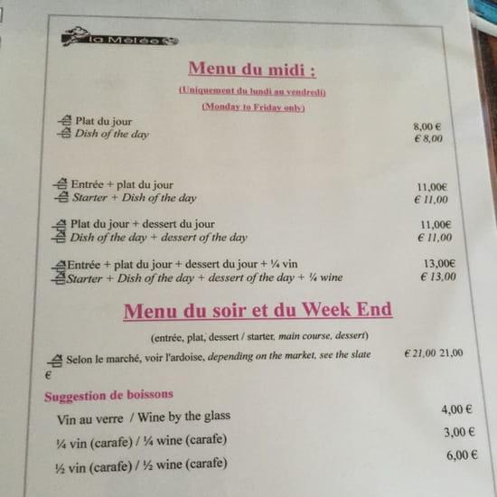 , Plat : La Mêlée