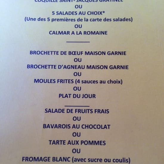 , Restaurant : La Provençale