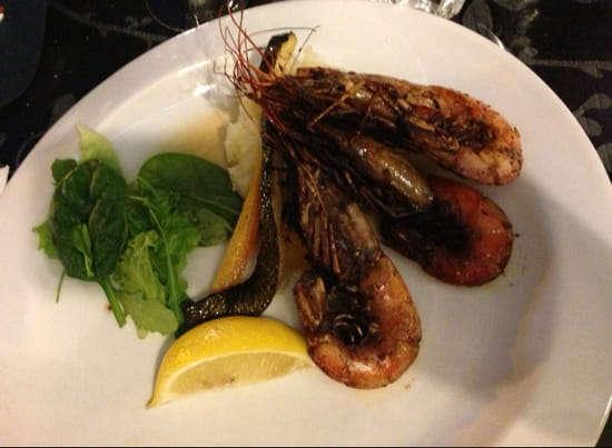 , Plat : La Table  - Plat menu a 19€90 trio de gambas  -