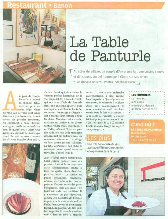 La Table de Panturle