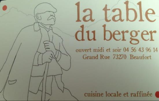 , Restaurant : La Table du Berger