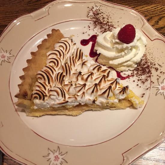 , Dessert : La Tablée  - Tarte du jour, citron meringuée  -