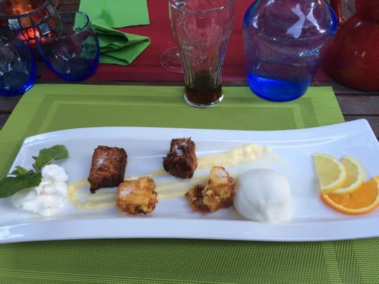 , Dessert : La Terrasse Fleurie  - Les beignets de Divonne -