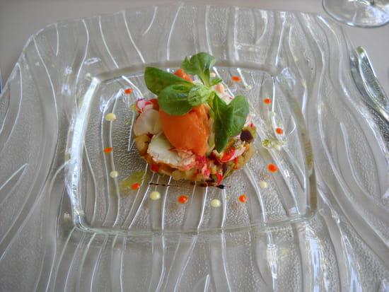 La Treille  - Carpaccio de homard sur brunoise -   © MORON Raphaelle