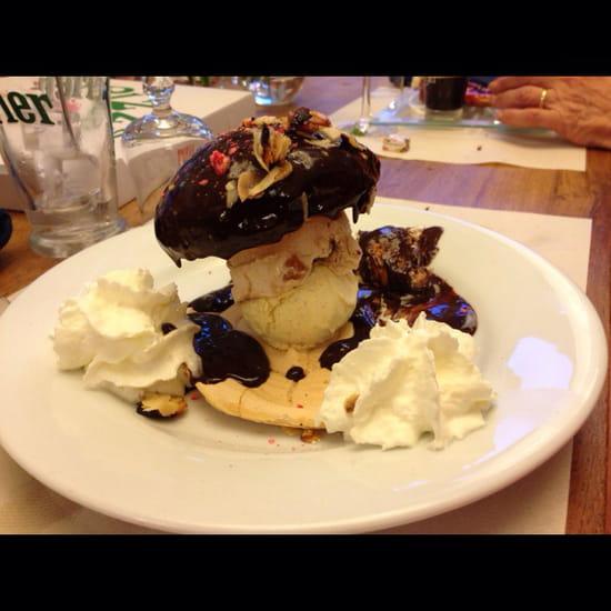 , Dessert : Le Bar Restaurant de la Plage  - Cèpe de la Bathazarde.   Un délice.... -