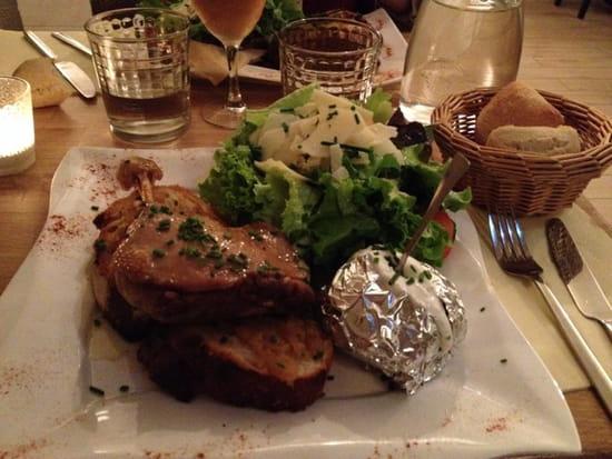 , Plat : Le Barbusse  - Tartine coin coin (au canard) un délice !!  -