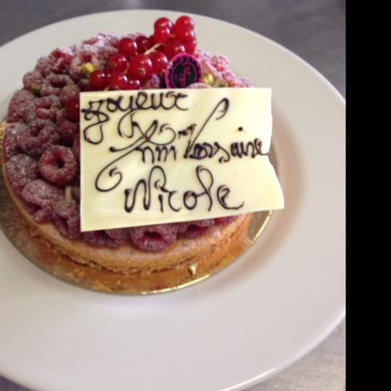 , Dessert : Le Bistroquet de Meudon  - Mon joli gâteau d'anniversaire merci chef vos gâteaux son merveilleux  -