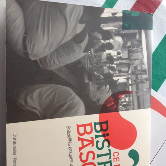 , Restaurant : Le Bistrot Basque  - La carte -