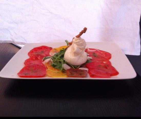 , Entrée : Le bistrot du sommelier  - Tomate et mozzarella di burata -