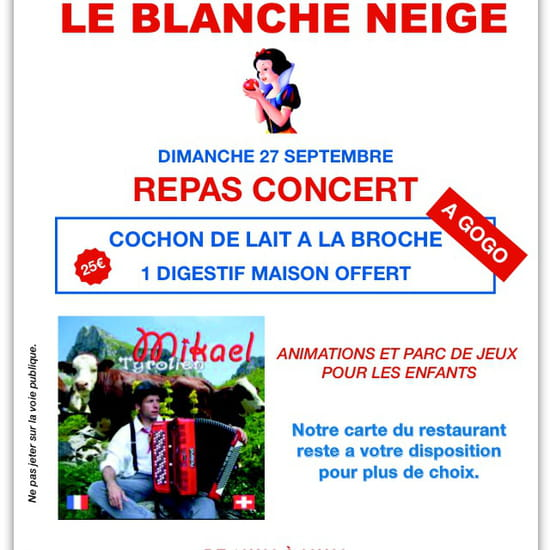 , Restaurant : Le Blanche Neige