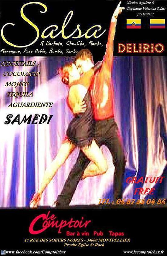 Le Comptoir  - Soirée Latine Salsa Delirio tous les 1ers samedi du mois -   © Le Comptoir