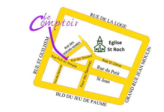 Le Comptoir  - Accés Le Comptoir Montpellier -   © Le Comptoir