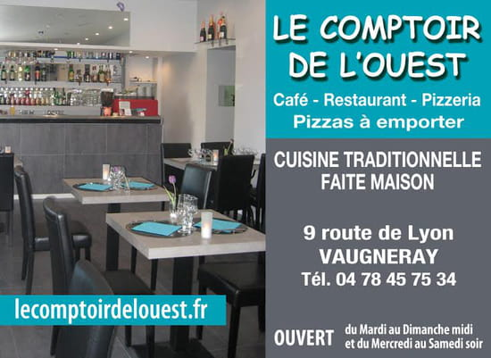 le comptoir de l 39 ouest restaurant de cuisine traditionnelle vaugneray avec linternaute. Black Bedroom Furniture Sets. Home Design Ideas