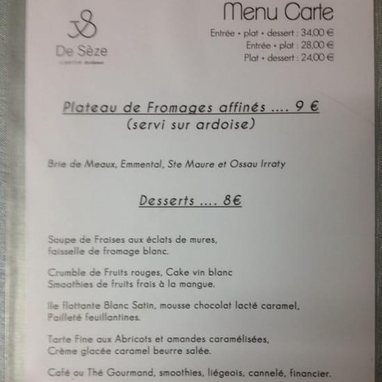 , Dessert : Le Comptoir de Sèze