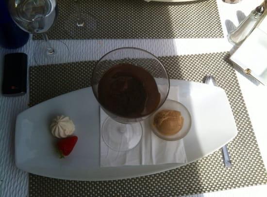 , Dessert : Le Jean Raymond Sylvie  - Mousse au chocolat au beurre caramel et huile d'olive -