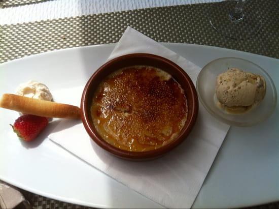 , Dessert : Le Jean Raymond Sylvie  - Crème catalane à la cannelle accompagnée d'un sorbet à la figue -