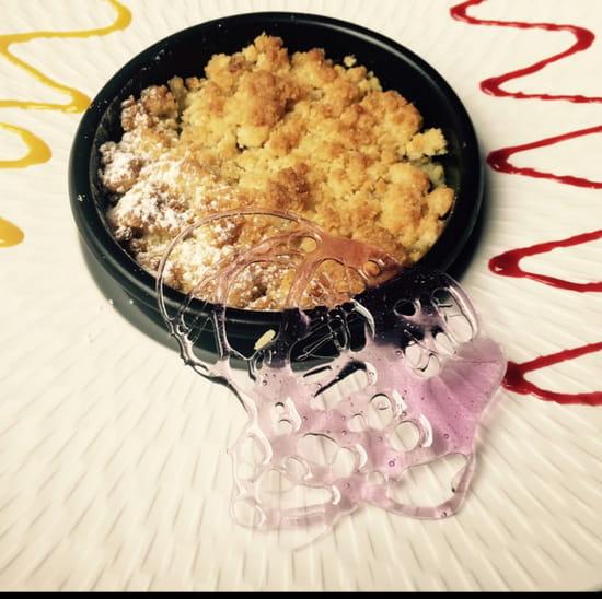 , Dessert : Le Patio  - crumble pomme kiwi -