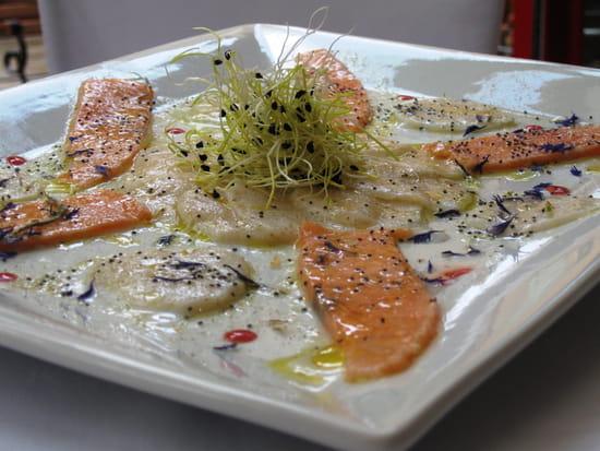 Le Patti  - carpaccio de saumon et Saint Jacques marinés -   © Le patti