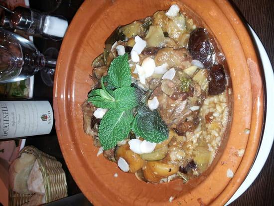 , Plat : Le Peperoni  - Tajine d agneau aux figues et aux abricots accompagné de goulgour -