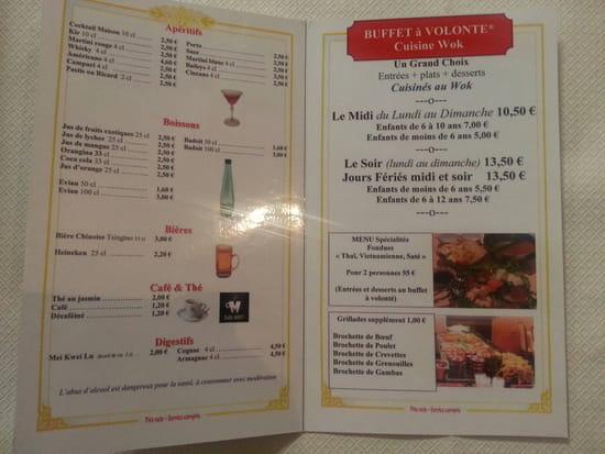 , Restaurant : Le Vietnam  - La carte -