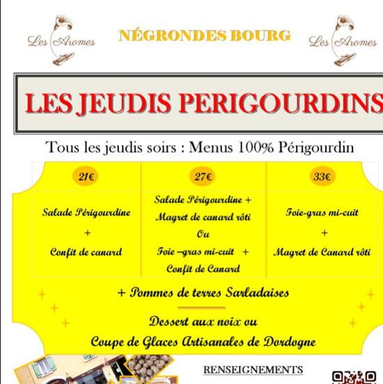 , Restaurant : Les Aromes  - Les jeudis soirs du1 mai au 1 septembre  -