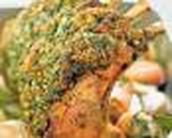 Les Cocottes Blanches  - carrée d'agneau en croute provençale -   © eugenie