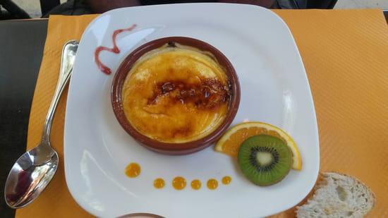 , Dessert : Les Jardins De Saint Sébastien  - Creme catalane -
