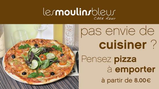 Les Moulins Bleus  - Nos pizzas à emporter -