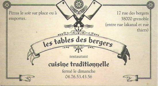 Les Tables des Bergers
