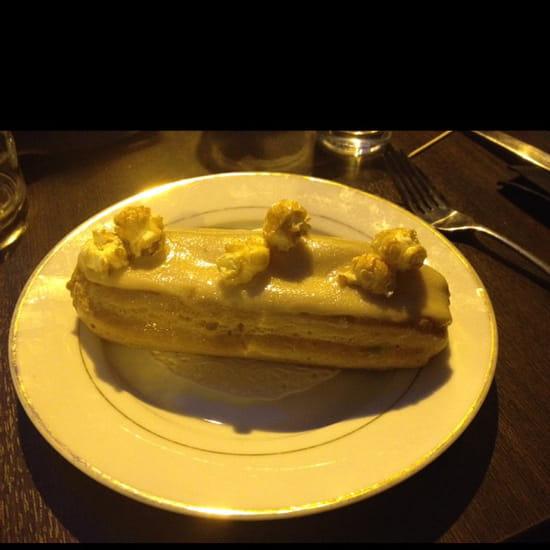 , Dessert : Lux Cafe  - Éclair caramel beurre salé -