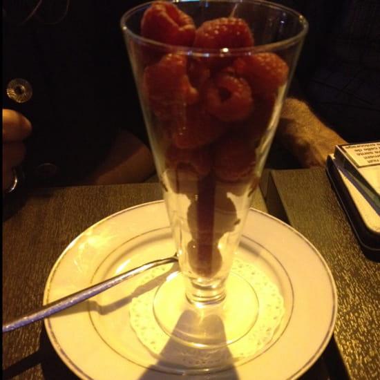 , Dessert : Lux Cafe  - Coupe de framboise -