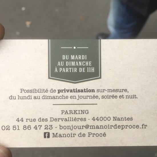 , Restaurant : Manoir de Procé