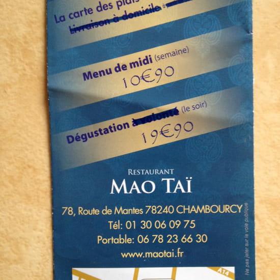, Plat : Mao Thai