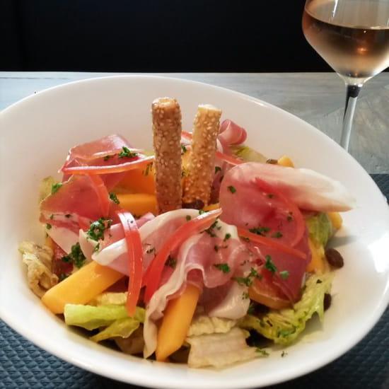 , Plat : Midtown  - Salade méli-melon jambon (pdj) -