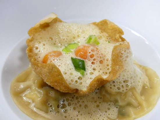 Nikita  - Ravioles de crabe royal, petits légumes -