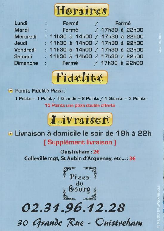 Pizza du Bourg  - Horaires -