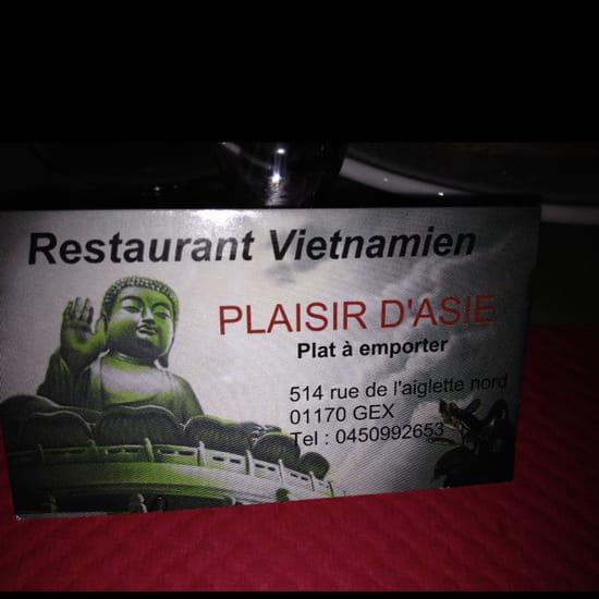, Restaurant : Plaisir d'Asie