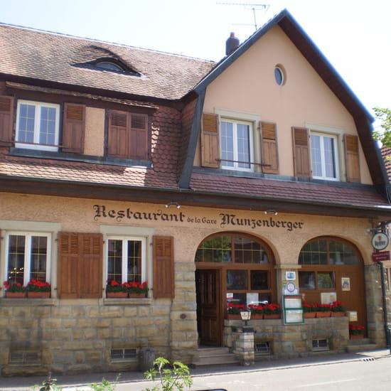 Restaurant de la gare munzenberger restaurant de cuisine traditionnelle hirtzbach avec - Alsace cuisine traditionnelle ...
