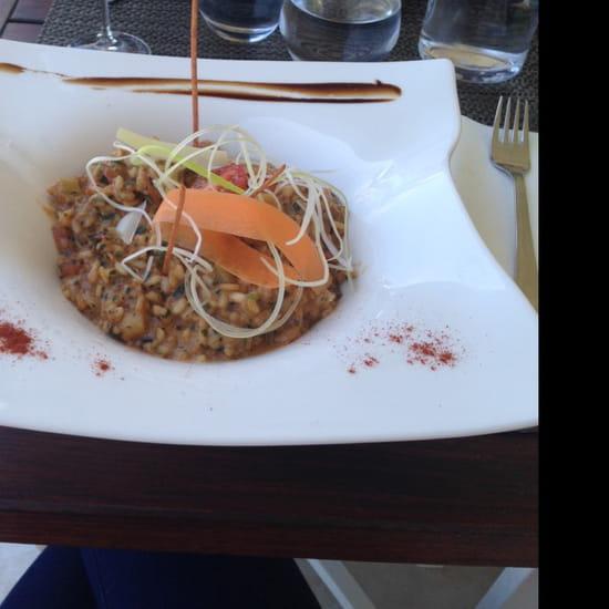 , Plat : Restaurant des Iles  - Risotto au gambas et St Jacques -
