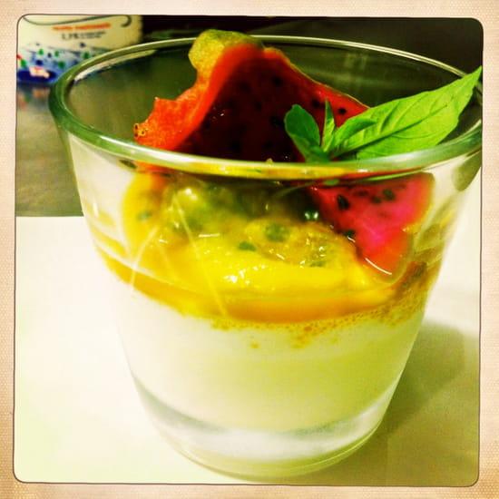 Restaurant Epicetou  - panacotta combawa, chutney mangue maracuja pitaya et basilic thai -